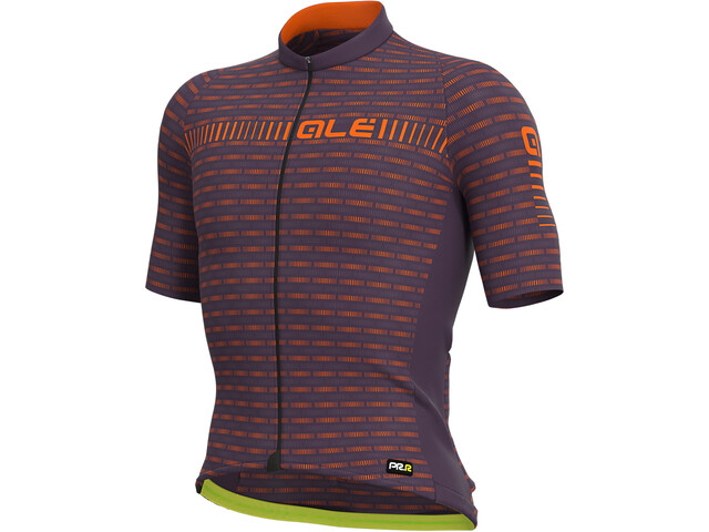 Alé Cycling Graphics PRR Green Road SS Jersey Men plum/fluo orange